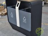 市政街道喷塑不锈钢分类垃圾箱