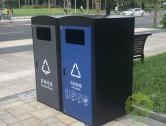 深圳市政道路240升两分类箱体套桶桶罩