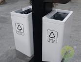 市政道路喷塑不锈钢分类果皮箱