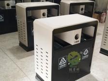 物业喷塑户外钢制分类垃圾箱