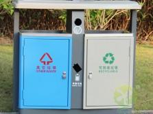 物业两分类冷轧钢板垃圾桶