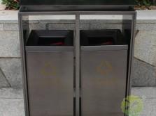 电镀黑钛双分类不锈钢垃圾桶