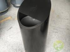 黑钛室内圆柱形不锈钢垃圾桶