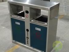 户外小区双分类钢制垃圾箱
