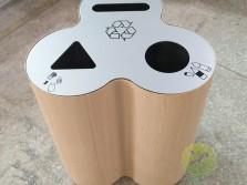 仿木纹立式直投口三分类垃圾桶