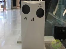 室内电梯口不锈钢分类垃圾桶