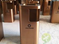 小区电梯口方形不锈钢果皮箱