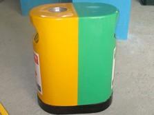 室外环保两分类玻璃钢垃圾桶