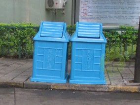 玻璃钢小区分类垃圾桶