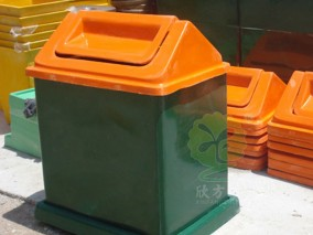 玻璃钢物业环保垃圾桶