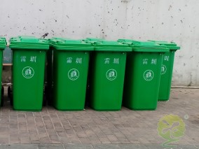 240升绿色环卫塑料垃圾桶