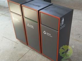 户外组合式不锈钢分类果皮箱