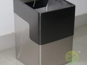 室内立式方形不锈钢垃圾桶