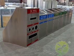 大容量资源分类不锈钢垃圾桶