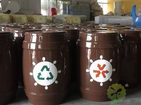 室内玻璃钢分类垃圾桶
