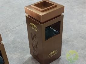 电镀方形物业不锈钢果皮箱