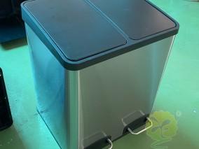 室内脚踏式不锈钢分类垃圾桶