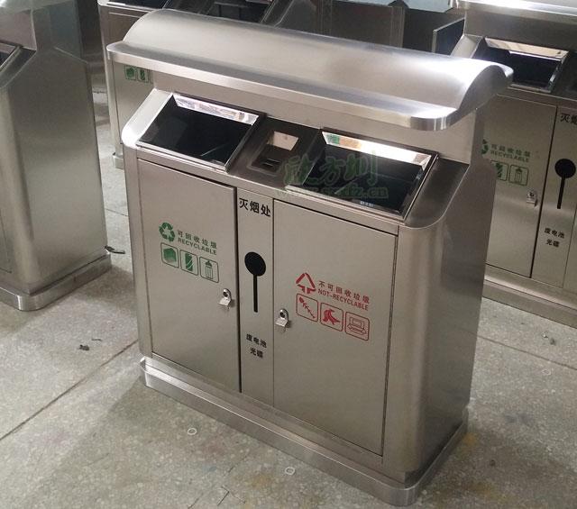 湖南株洲企业采购不锈钢分类果皮箱