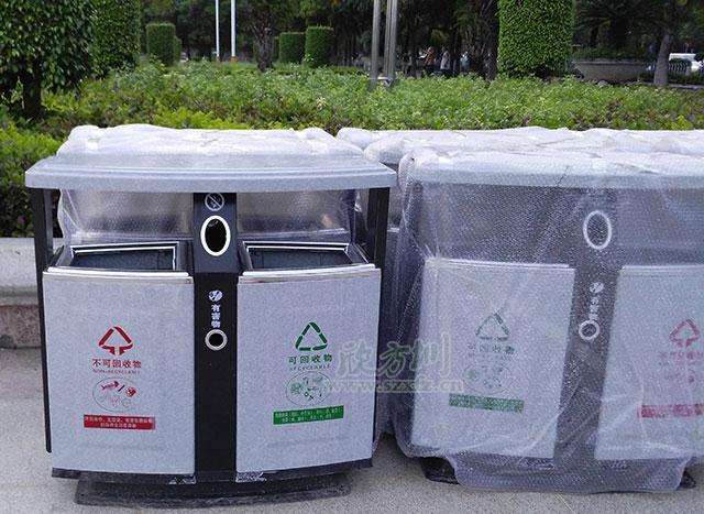 玻璃钢仿大理石垃圾桶适合海南户外酸碱环境