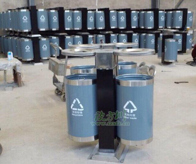 环保钢制分类垃圾桶美化黄冈市政街道