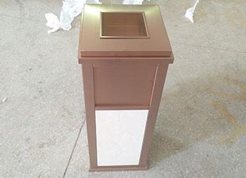 电镀钛金电梯口不锈钢果皮箱主图