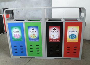 物业小区户外四分类钢制垃圾箱主图