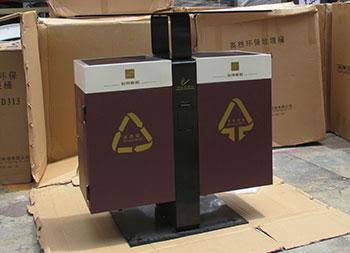 室外物业社区两分类钢制垃圾箱主图
