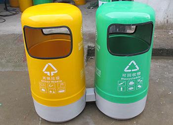 户外环卫玻璃钢分类垃圾桶主图