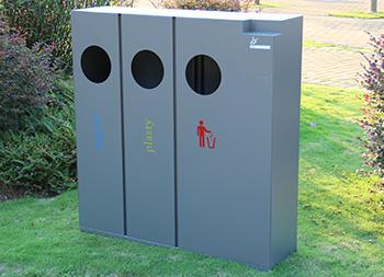 酒店三分类冷轧钢板垃圾桶主图