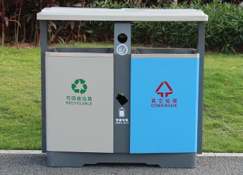 物业两分类冷轧钢板垃圾桶主图