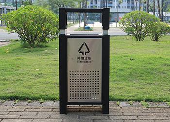 方形组合式钢板分类垃圾桶主图