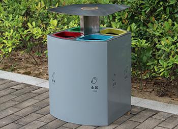 喷塑不锈钢四分类垃圾桶主图