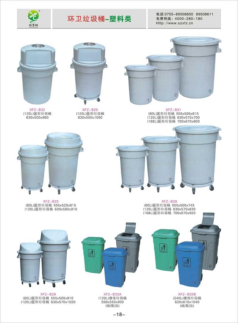 圆形垃圾桶图片