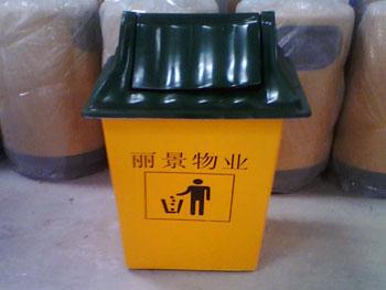 玻璃钢屋型物业垃圾桶主图