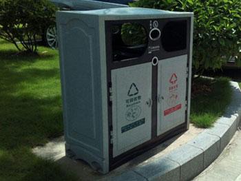 市政仿大理石玻璃钢垃圾桶主图