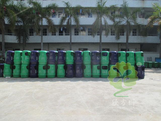 玻璃钢户外街道垃圾桶图片