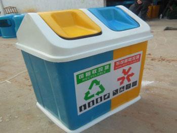 户外优质玻璃钢分类垃圾箱主图