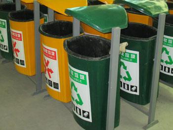 户外景区玻璃钢分类垃圾箱主图