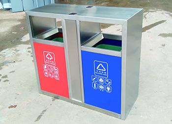 街道市政两分类不锈钢垃圾桶主图