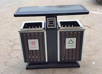 物业小区分类钢木垃圾箱主图