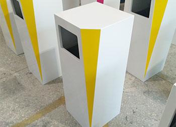 室内高档创意钢制果皮箱主图
