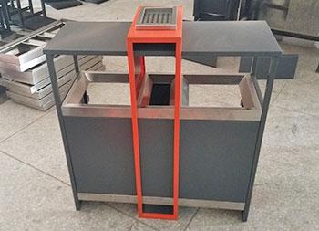 物业小区户外分类钢制垃圾箱主图