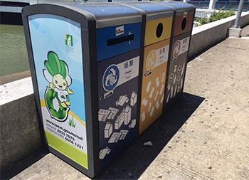 创意广告分类钢制垃圾箱主图