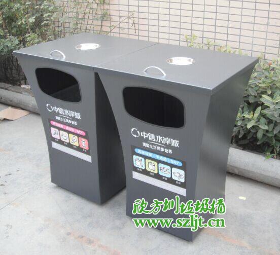 惠州中信水岸城出现独特垃圾桶