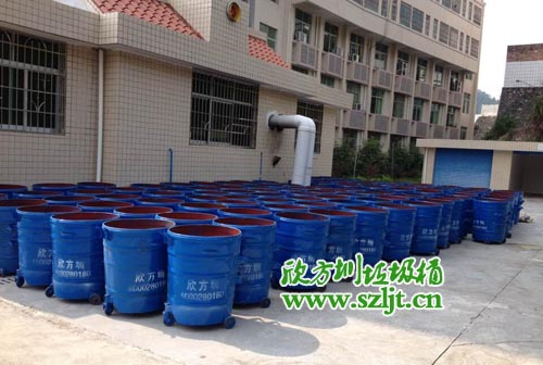 韶关市管理局采购大批量欣方圳垃圾桶