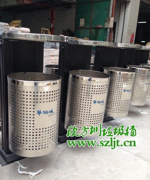 华润置地采购欣方圳不锈钢垃圾桶