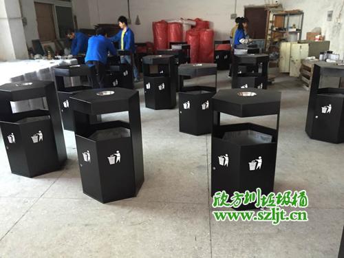 杭州公司采购一批欣方圳钢板喷塑垃圾桶