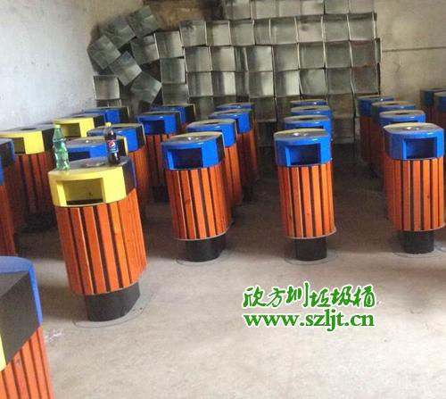 汕头仟盛定做欣方圳钢木垃圾桶
