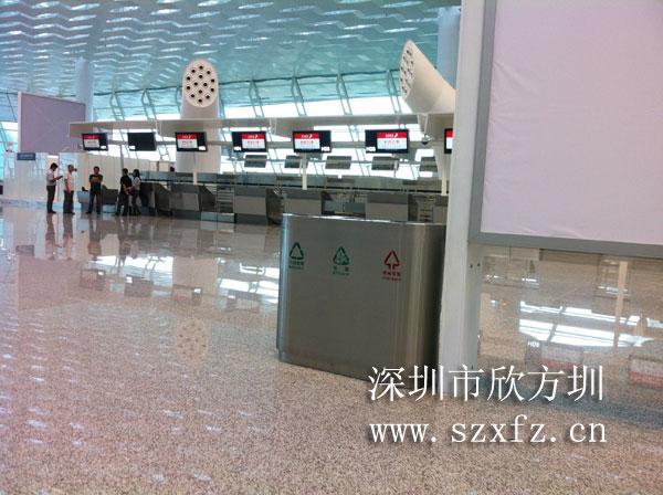 深圳机场T3航站楼采购三分类不锈钢垃圾桶