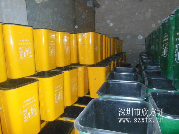 大涌镇城建局订购欣方圳玻璃钢果皮箱